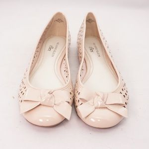 Anne Klein AK Baby Round Toe Cutout Flats with Bow